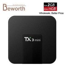 10pcs TX3 Mini Android 7 1 TV Box 2G 16G Amlogic S905W Quad Core Smart Mini
