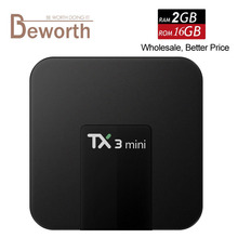 10pcs TX3 Mini Android 7.1 TV Box 2G 16G Amlogic S905W Quad Core Smart Mini PC Wifi 4K Streaming Media Player KODI17.3 TVbox DHL