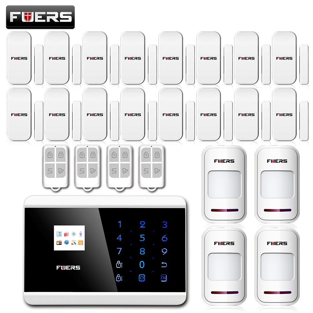 fuers IOS Android APP Touch Keypad+LCD display screen 99 Wireless GSM PSTN SMS Home Security Burglar House Alarm Russian/French ios android app lcd smart touch keypad wireless wired gsm pstn quad4 band sms home security voice burglar alarm system auto dial