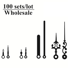где купить 100 sets Wall Clock hands Accessories Metal needle Pointer parts Minute Hour Hand Set Needles Clocks Home Decor Promotion по лучшей цене