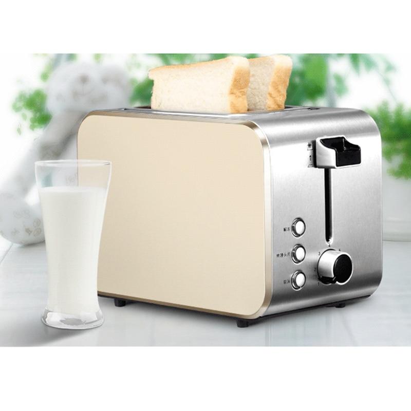 лучшая цена DMWD 750W Home Stainless Steel Bread Toaster Breakfast Machine Toast Oven Steamed Bun Slice Baking Machine 220V