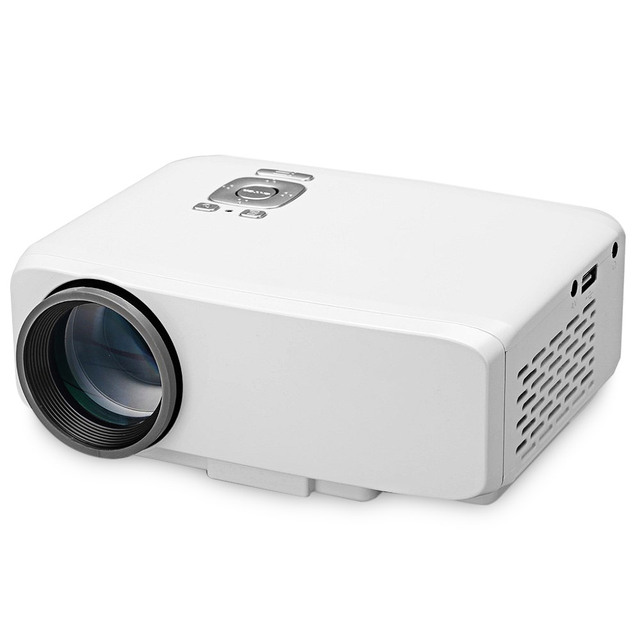 GP9S Projector LCD LED Portable Projector AV /SD/USB/VGA/HDMI Home Theater 800*480 White Multi-media Beamer Proyector US EU Plug