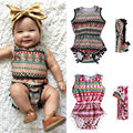 Classic Newborn Baby Girls Clothing Bodysuit Flower Cute Jumpsuit Sunsuit Tops Headband Clothes Outfit Set