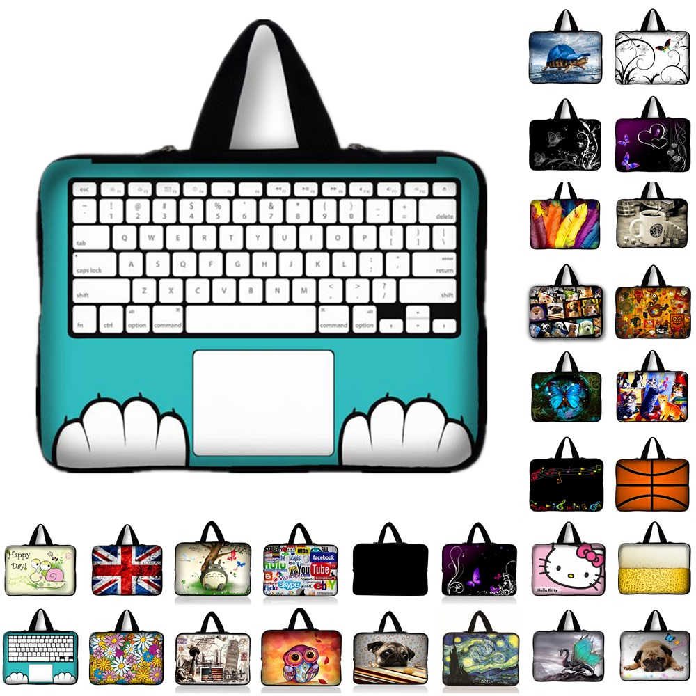 10 11.6 13 13.3 14 15 15.6 17 17.3 pollice Tastiera di stampa manicotto Del Computer Portatile Notebook Bag Custodia Messenger Cassa del PC Borsa per ipad macbook HP