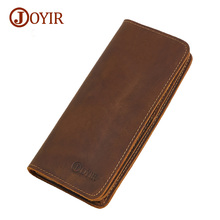Joyir 2017 new model real leather-based males's wallets excessive capability multi card lengthy pockets clutch males real leather-based purse 2043