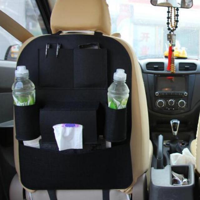 2018 New Auto Car Blanket cloth Seat Back Multi-Pockets Storage Bag Organizer Holder Accessory Black