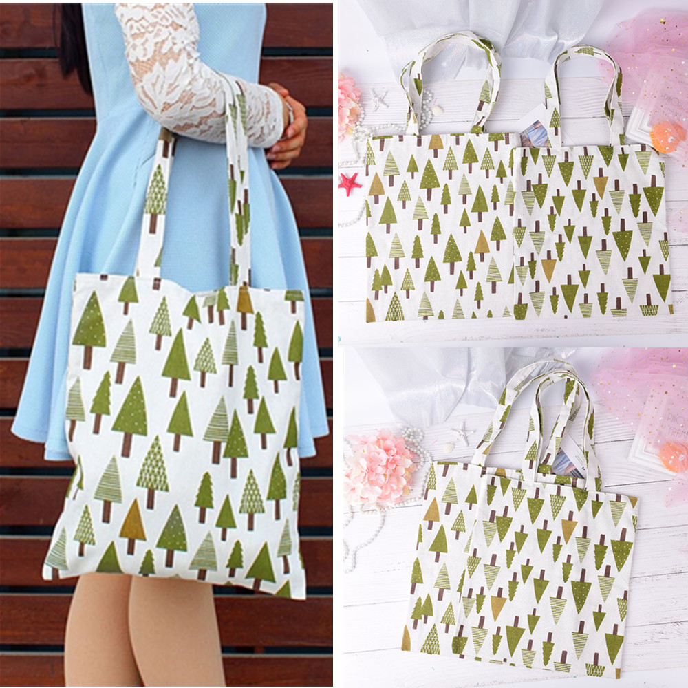 Women Canvas Tote Bag Female Casual Beach HandBag Eco Shopping Bag Summer Daily Use Foldable Canvas Shoulder Bag Canvas Tote