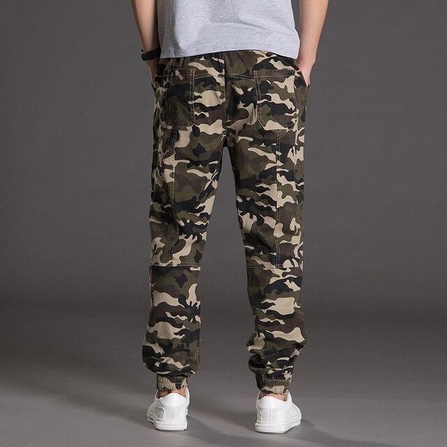 sur des coups de pieds de aperçu de prix plancher € 20.27 19% de réduction|Homme Coton Camouflage Harem Pantalon Taille  Élastique Cheville Longueur Pantalon Nouvelle Mode Hommes Hip Hop Style  Pantalon ...