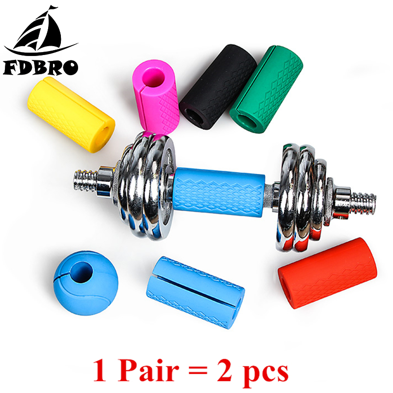 FDBRO 1 para Barbell Griffe Hantel Kettlebell Fett Grip Dicke Bar Griffe Pull Up Gewichtheben Unterstützung Anti-Slip Schützen pad