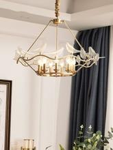 American Pendant Lamp Led Living Room Bedroom Dining Nordic Modern Light Copper Loft  Fixtures Kitchen Lighting