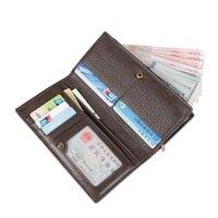 Zipper Men Wallets Genuine Leather Men Purses Soft Clutch Wallet