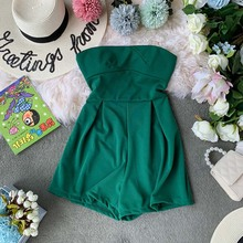NiceMix 2019 summer striped loose playsuits bodysuit rompers women casual jumpsuit shorts short sleeve elegant overalls for wome