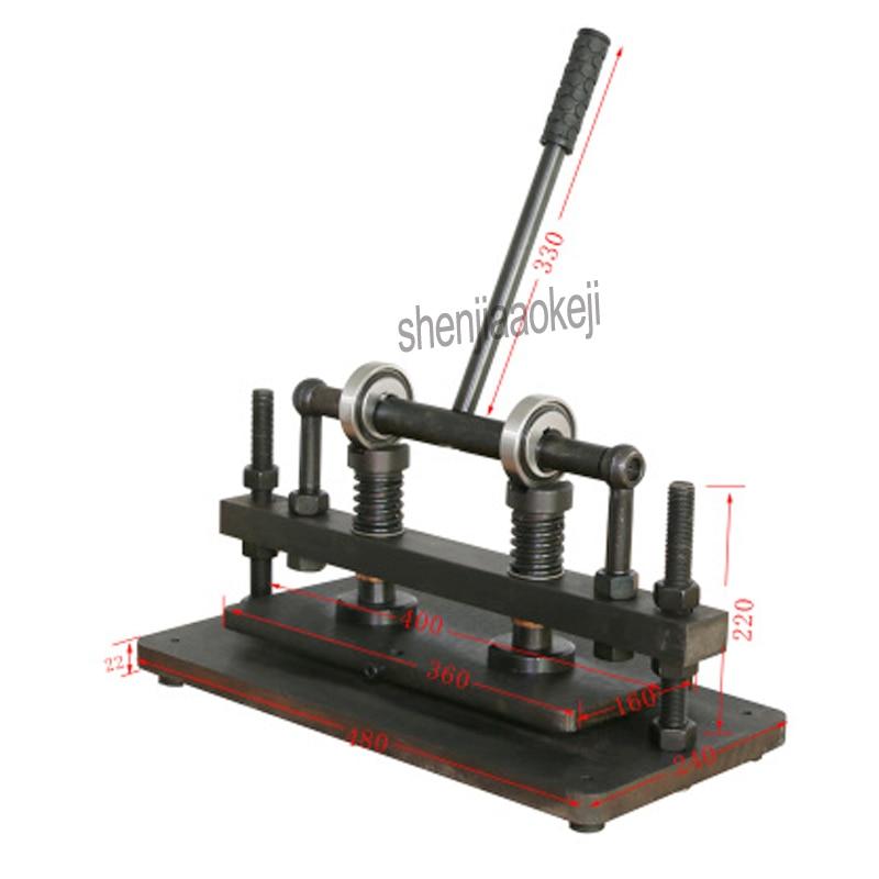 Coupeur manuel de moule de feuille de PVC/EVA de coupeur de cuir de machine de coupe de cuir de main de Double roue, machine de découpage en cuir