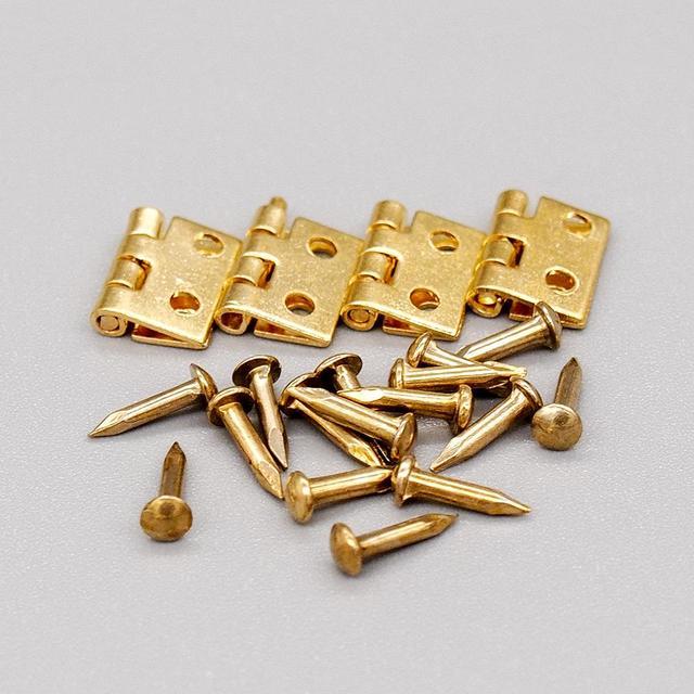 Odoria 1:12 Miniatur Goldene Mini Scharniere und Schrauben 4 satz in ...