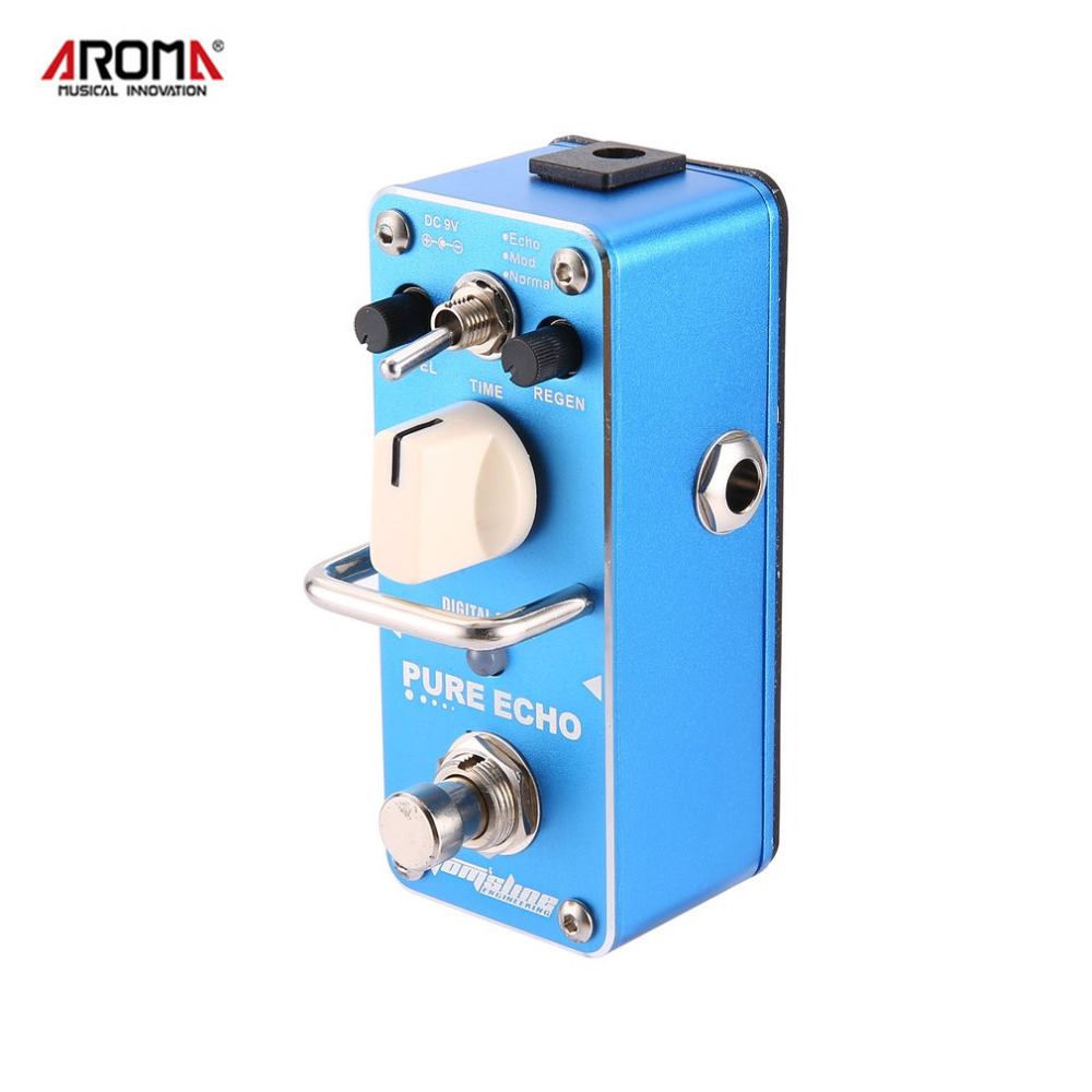 Aroma APE-3 Pure Echo Digital Delay Electric Guitar Equalizer Mini Guitar Effect Pedal True Bypass Single Guitar Accessories aroma adl 1 true bypass delay electric guitar effect pedal high quality aluminum alloy guitar accessories delay range 50 400ms