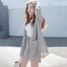 Womens Suit Summer 2 Pieces Set Cotton Linen Loose Blazer Bow Women Tracksuit High Quality Short Pant Suits