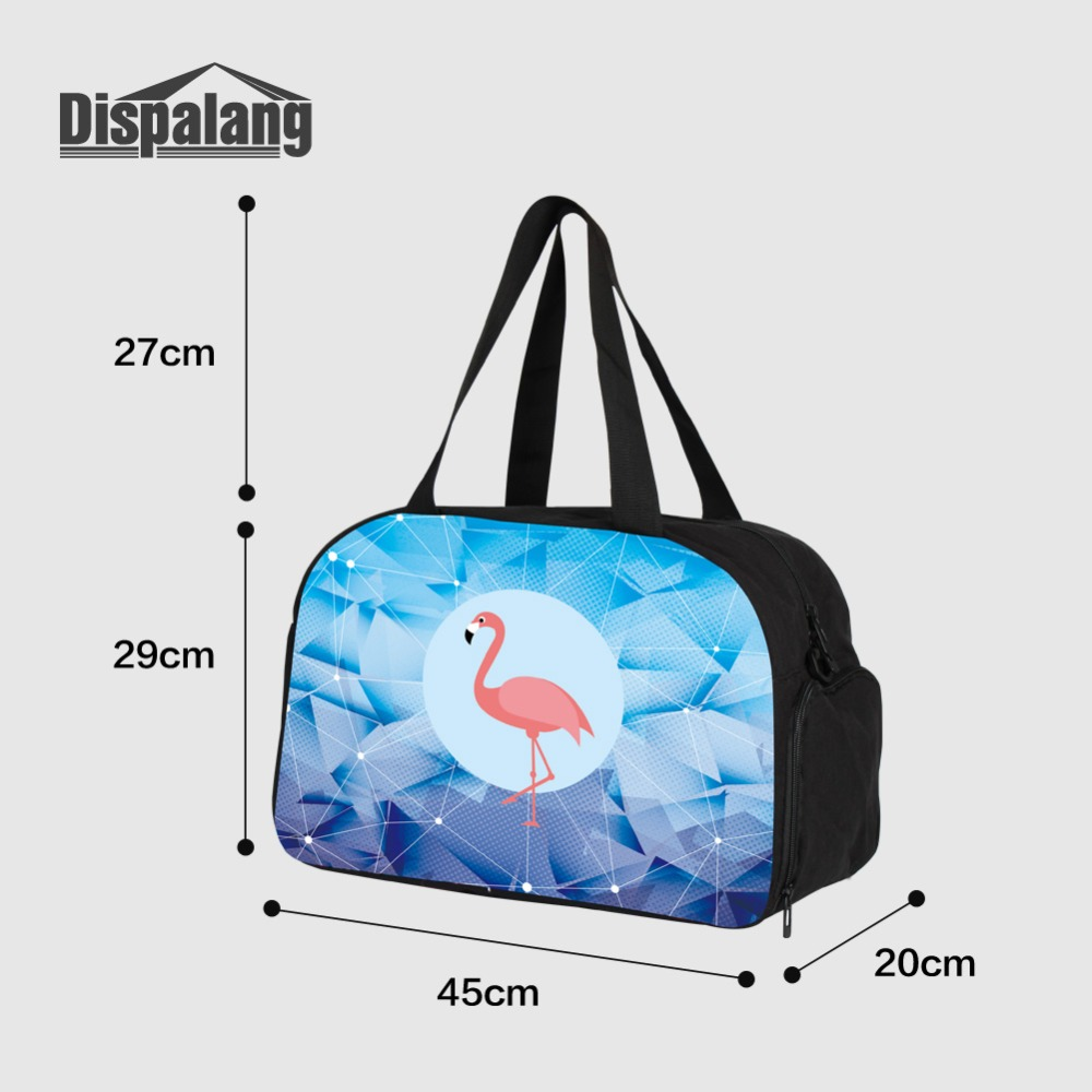Gym Bag Sports Holdall Flamingo Birds Canvas Shoulder Bag Overnight Travel Bag for Men and Women