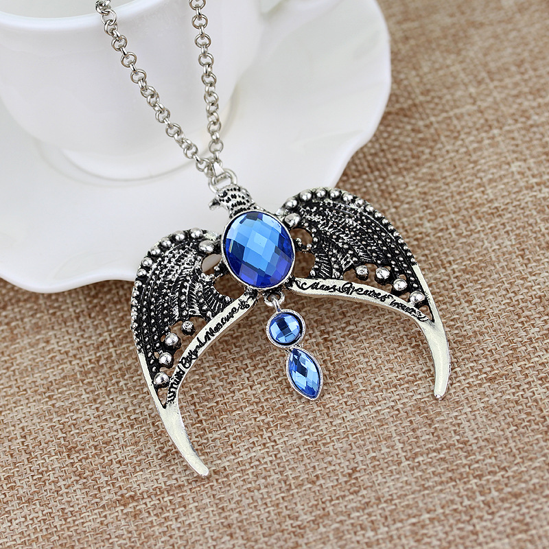 10 Pcs/lot Harri Potter The Same Crowned Ravenclaw Lost Crowned necklace Coronation Magic Academy Necklace Pendants toy gifts