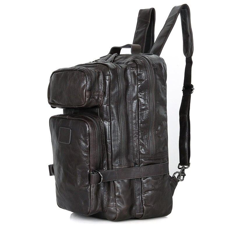 Nesitu Vintage gris café grandes femmes hommes sacs à dos femme mâle voyage sacs sac à bandoulière de haute qualité M7048