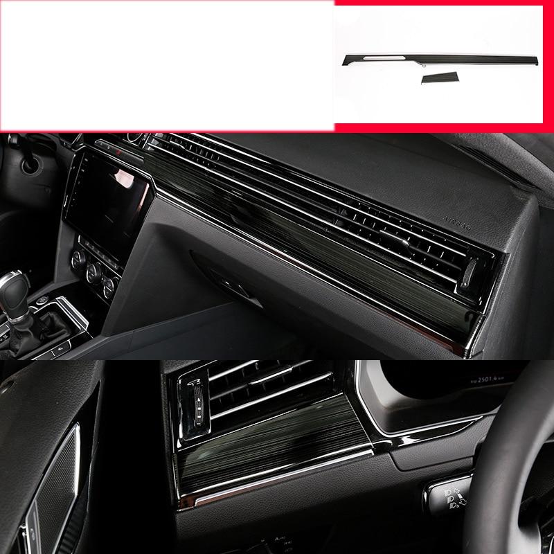 Lsrtw2017 garnitures de tableau de bord de voiture en acier inoxydable en fibre de carbone pour volkswagen arteon 2017 2018 2019 style de voitureLsrtw2017 garnitures de tableau de bord de voiture en acier inoxydable en fibre de carbone pour volkswagen arteon 2017 2018 2019 style de voiture