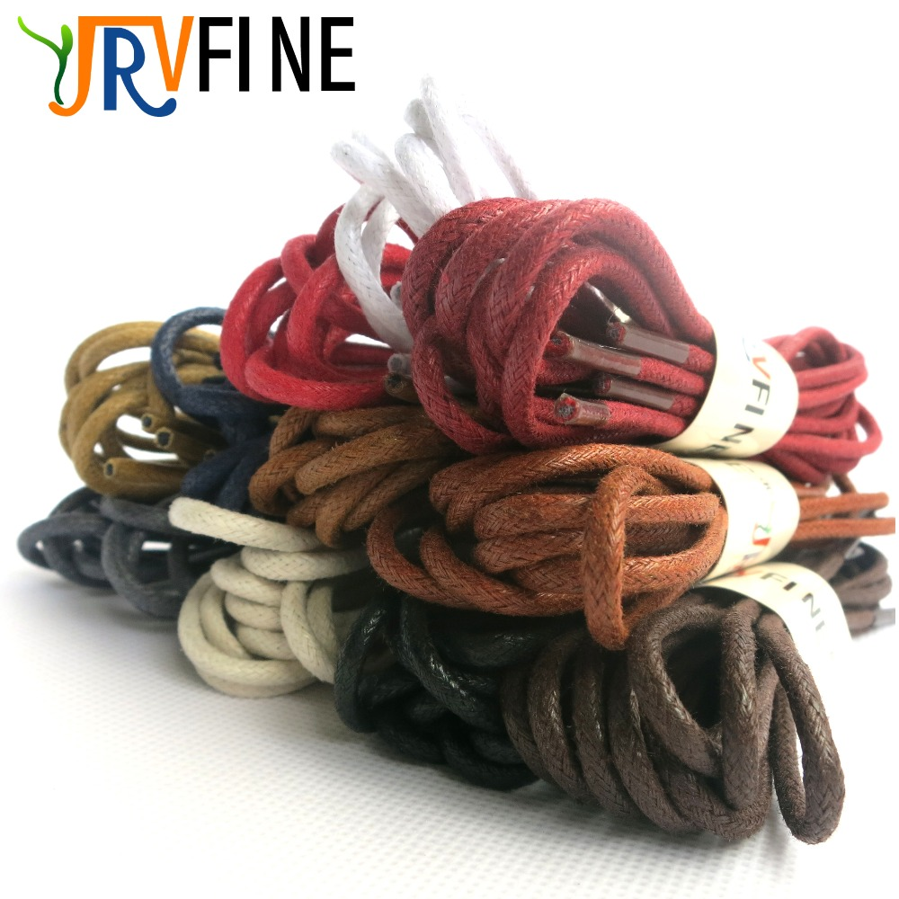 """2Pairs Light Brown Waxed Round Shoelaces Sneaker Canvas Leather Boots 90cm  35/"""""""