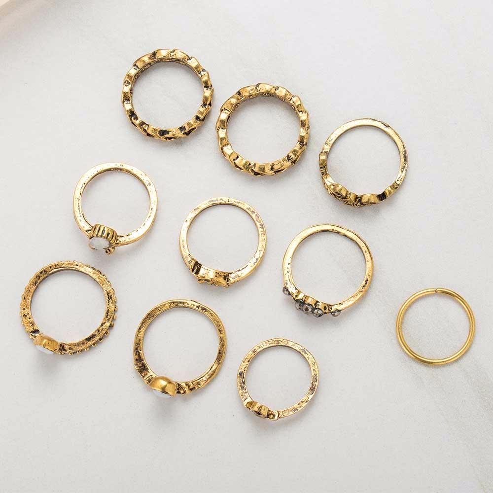HTB1vG7yOXXXXXcbXXXXq6xXFXXXN 10-Pieces Unique Vintage Carved Spirituality Knuckle Ring Set For Women - 2 Colors