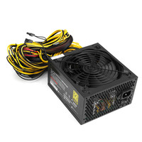 Gold 90 PLUS Efficiency PC Miners Power Supply 1600W 1800W Max 12V 120 5A Output 24PIN