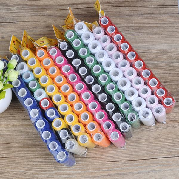 200yards 10pcs/set Sewing Overlock Multicolor Home Machine Sew Threads Spools Sewing Cotton Machine Embroidery Thread Industrial