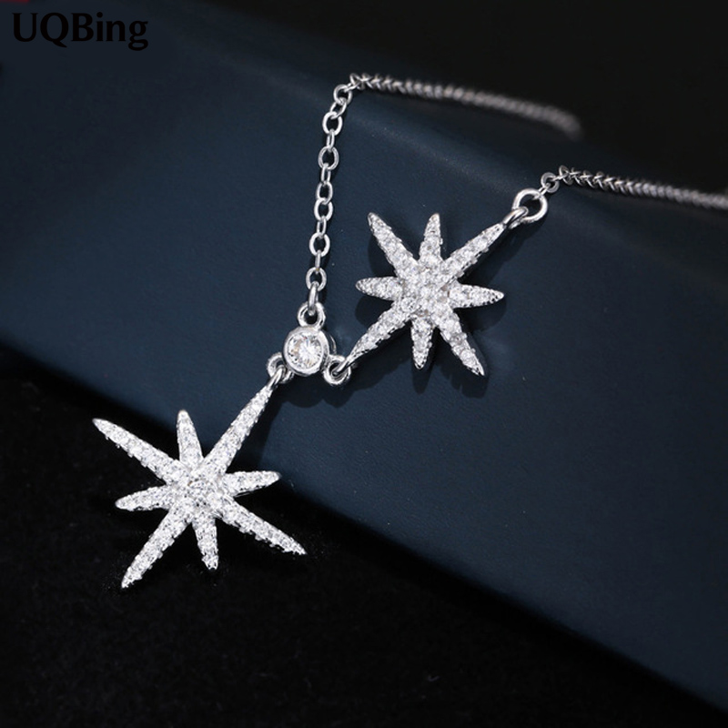 Hot Selling 925 Sterling Silver Snow Flower Pendant Necklaces For Women Jewelry Collar Colar