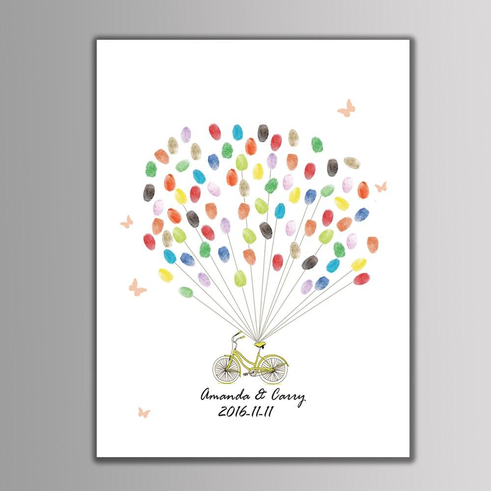 2017 New Canvas Wedding Tree Creative Fingerprint Guest Book