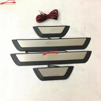 Car Styling For Mazda CX 5 CX 5 CX5 With Led Blue Light Door Sill Trim