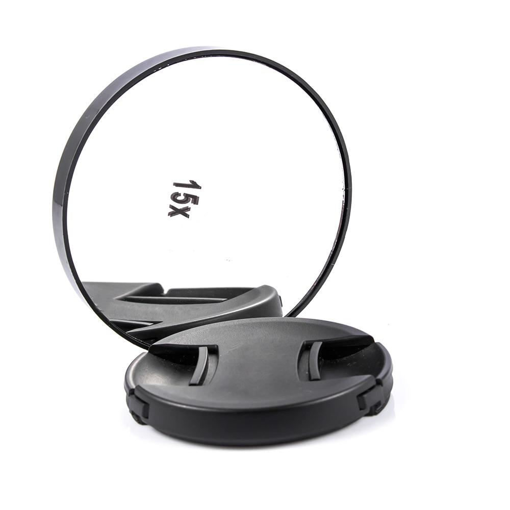 5x 10x 15x Make-up Pickel Poren Vergrößerungs Spiegel Mit Zwei Saugnäpfe Make-up Werkzeuge Runde Mini Spiegel Leicht Zu Tragen Spiegel