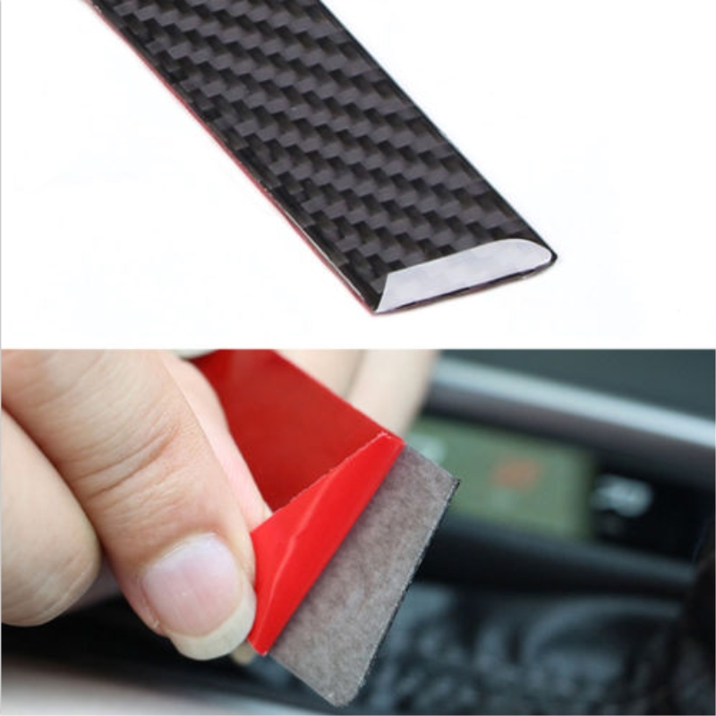 1pcs Real Carbon Fiber Inner Gear Shift Chrome Cover Panel Trim For 2016 2017 Honda Civic Car styling Covers Auto Accessories in Interior Mouldings from Automobiles Motorcycles