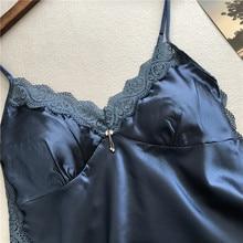 Sexy Lace Spaghetti Straps Satin Pyjama Set