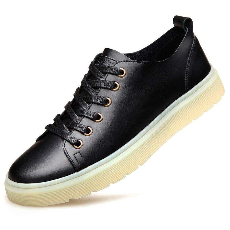 2019 Moda Shoes Up De Couro Sapatilhas 38 Genuíno Novo Casual Homens Dos Skate Tamanho Lace Designer 1 2 Sapatos Da047 Da Respirável 44 wxvanw8Arq