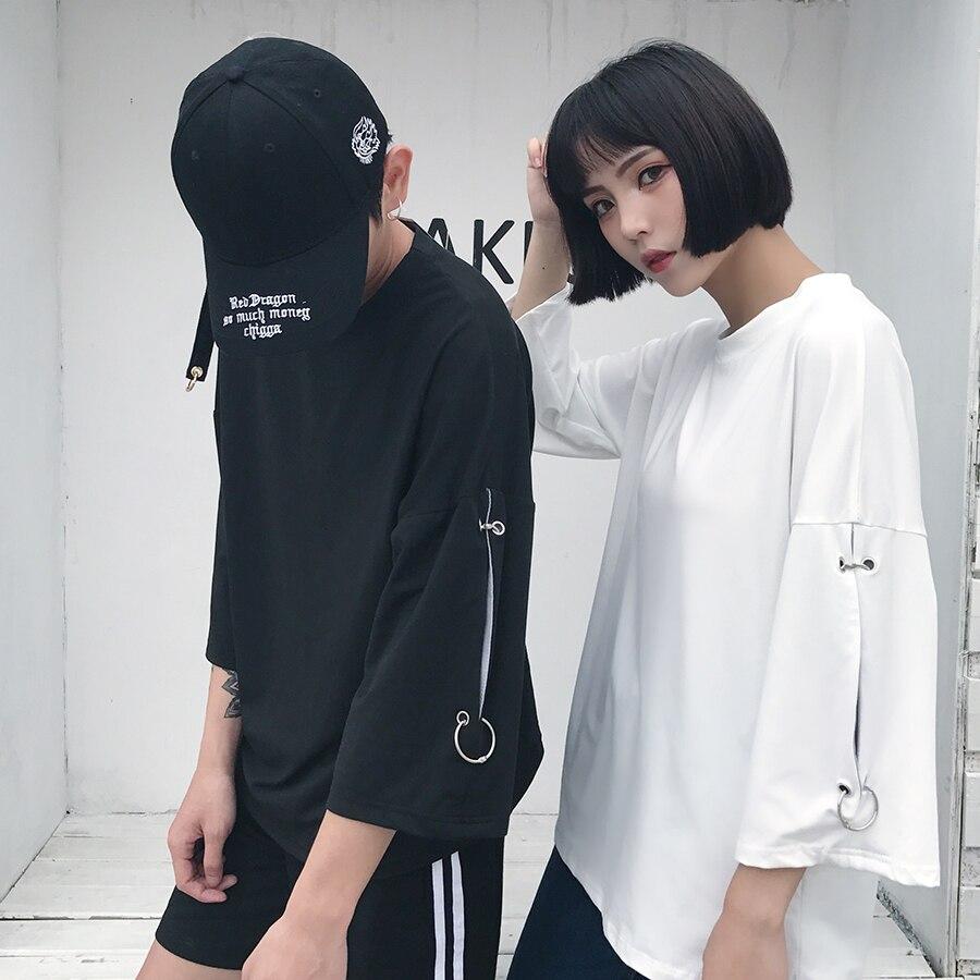 T-Shirt d'été femmes à manches longues Harajuku décontracté t-Shirt Style coréen Ulzzang Streetwear t-Shirt grande taille femmes vêtements 50G0026