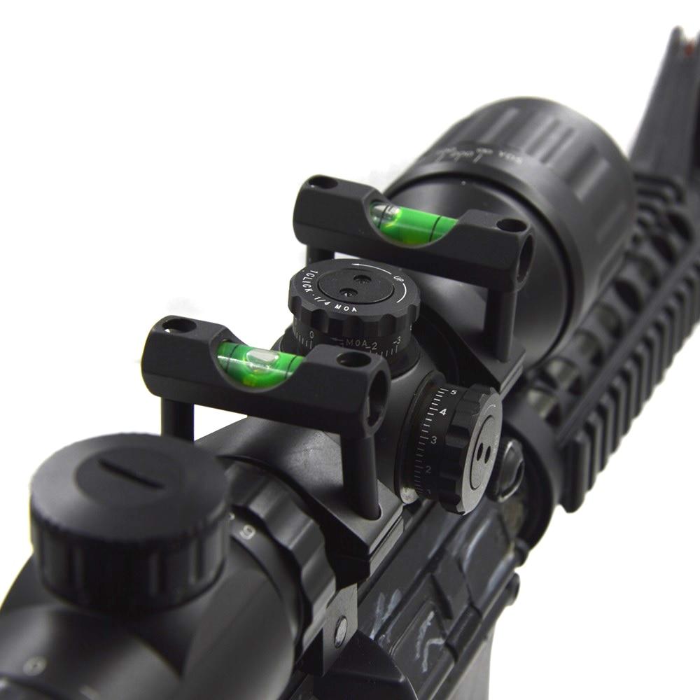 Rifle Scope Laser Bubble Spirit Level para 30mm o 25.4mm