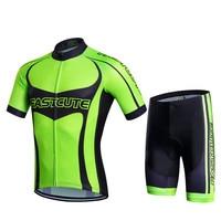 Fastcute 2017 Cycling Jersey male set High quality Short sleeve cycling sportswear Quick-drying Anti-sweat Cycling Clothing set