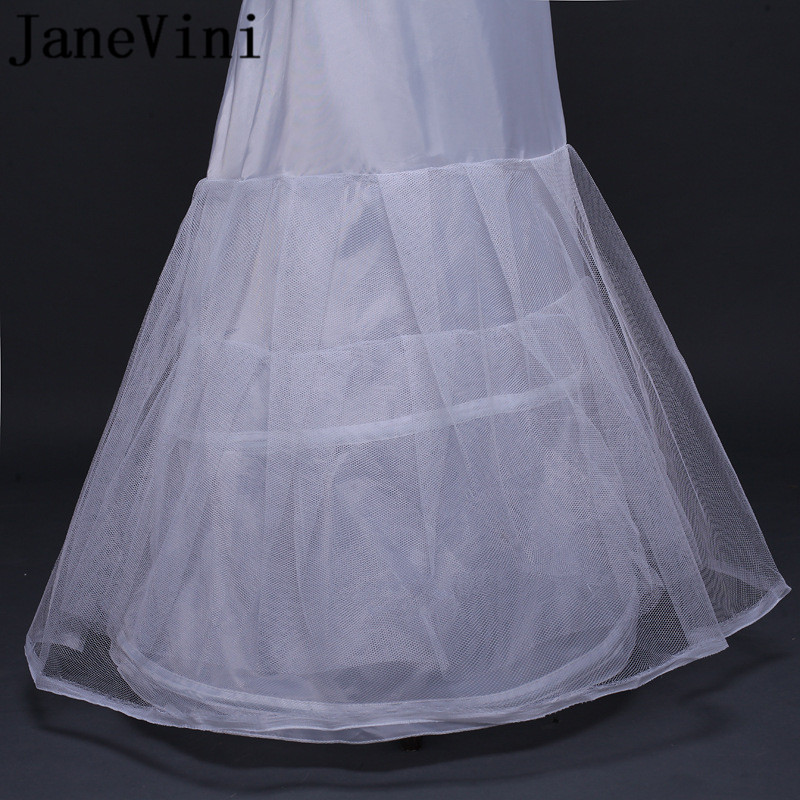 Купить с кэшбэком JaneVini New Style Mermaid Wedding Dress Petticoats Underskirts Tul Blanco Bridal Long Petticoat Wedding Petty Coat Jupon Mariee