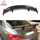 For Mercedes-benz CLA W117 Carbon Fiber Spoiler GT Style With red line CLA45 Carbon Fiber Rear trunk wing rear spoiler 2013 - UP