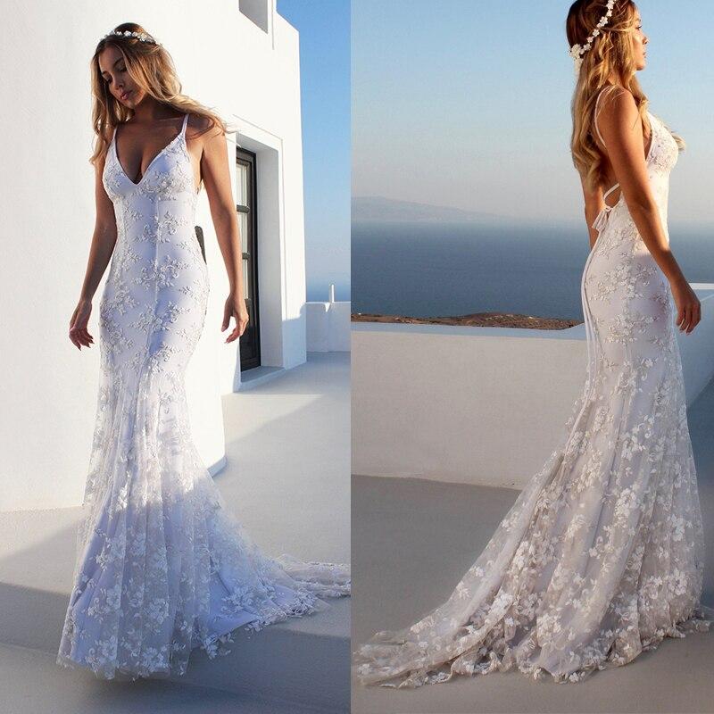 Сексуальное Белое длинное платье с блестками женское стрейчевое длинное кружевное платье длиной до пола с v-образным вырезом без спинки обл...