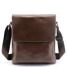 New Fashion Genuine Leather Men Messenger Bags Casual Crossbody Bag Business Men's Handbag Bags for Men's briefcase bag цена