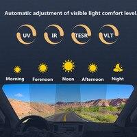 SUNICE Auto Styling Sputter Solar Tönung Film Wärmedämmung Sonnenschutz Film Photochrome Film Auto Hause Klebstoff Aufkleber 1 52x1 m