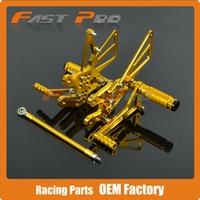 CNC Motorcycle Adjustable Billet Foot Pegs Pedals Rest For SUZUKI GSXR1000 GSX1000R GSXR 1000 2007 2008 07 08