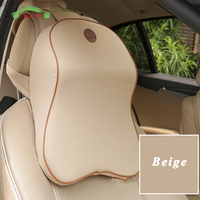 Car Neck Massage Pillow 3D Memory Foam Safety Seat Support Headrest Cushion for Land Rover Ford Honda Toyota BMW Car Accessories