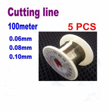 5pcs 0.06 0.08 0.1mm LCD Screen Separation Diamond Wire Cutting Line for Mobile Phone Repair Tools 100 meters