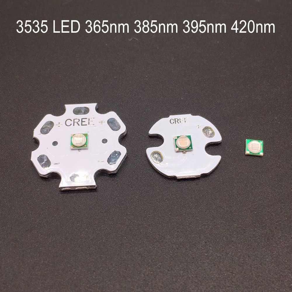 10pcs 1W 365nm UV LED Ultraviolet LED lamp Light High Power with 20mm Base