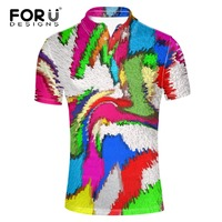 FORUDESIGNS 2017 New Fashion Men POLO Shirt Modern Mixed Color Polo Homme Slim Fit Short Sleeve
