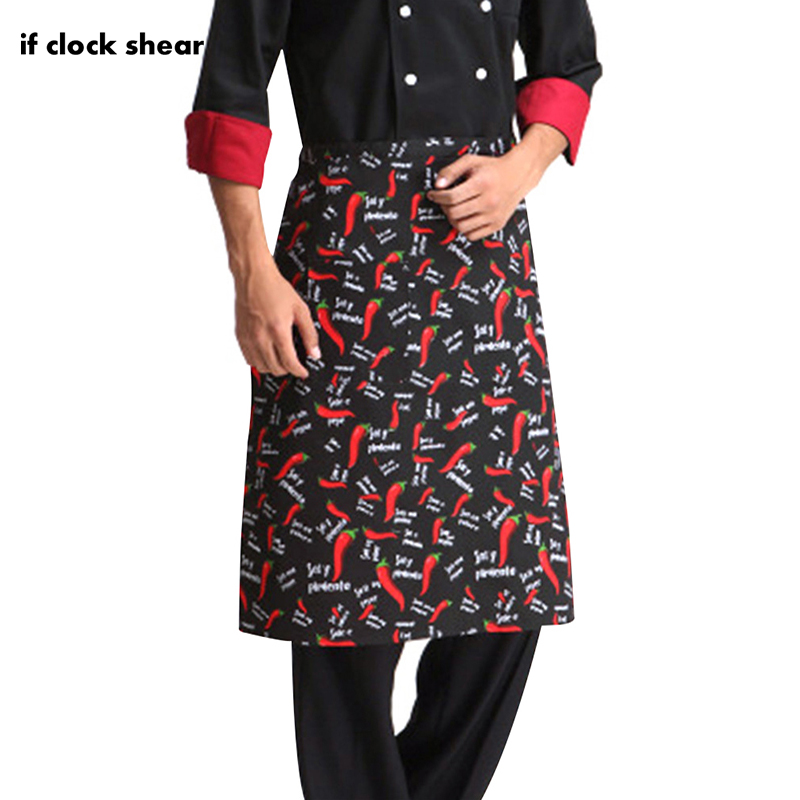 New Wholesale Prices Kitchen Aprons Half-length Long Waist Apron Catering Chefs Waiters Uniform Chef Accessories Sushi Costume