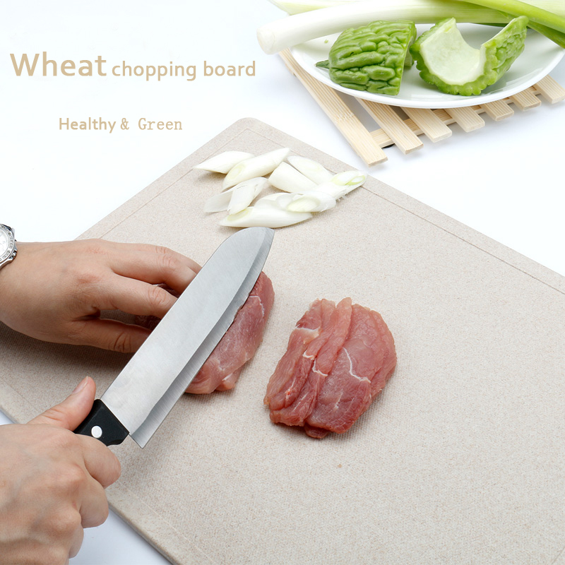 1 PCS Fruit Chopping Board Chopping Block Wheat Cutting Board Cutting Board Antibiotic Kitchen Utensils